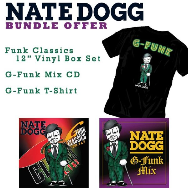 Nate Dogg T-Shirt CD Vinyl bundle