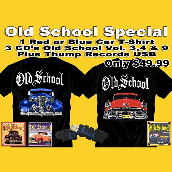 Old School T-Shirt CD USB Bundle