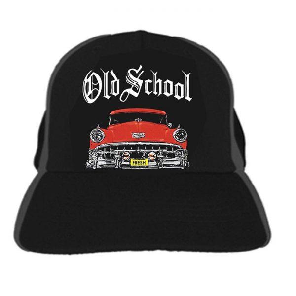 Cap Old School Red Car