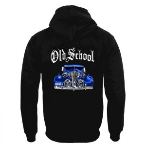 Clothing Hoodie Old School Blue Car