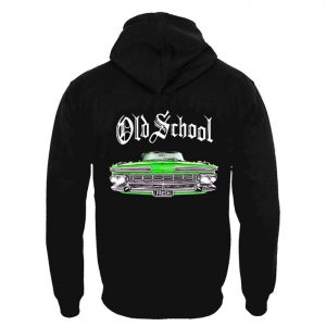 Clothing Hoodie Old School Green Car