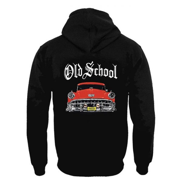 Clothing Hoodie Old School Red Car