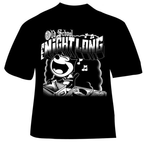 T-Shirt Old School All Night Long