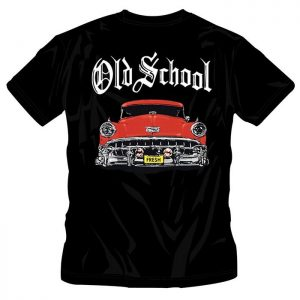 T-Shirt Old School Red Car black shirt