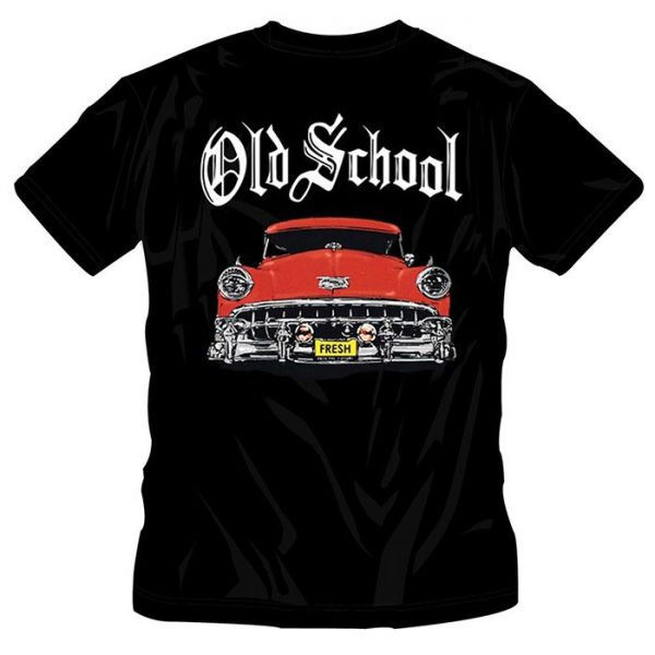 T-Shirt Old School Red Car black shirt