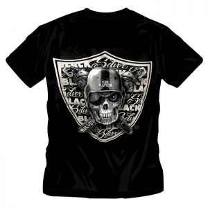 T-Shirt Silver and Black One Nation