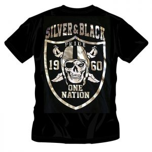 T-Shirt Silver and Black Pride