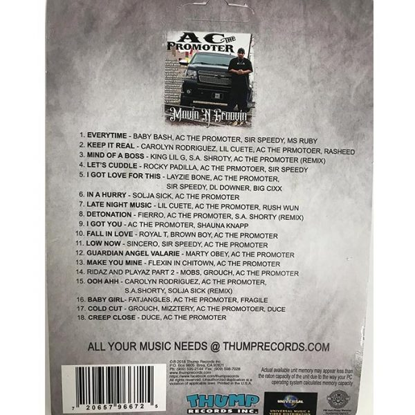 Thump Records AC The Promoter MP3 collection track listing.