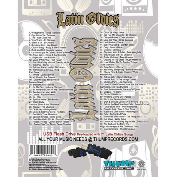 Thump Records Latin Oldies MP3 collection song listing.