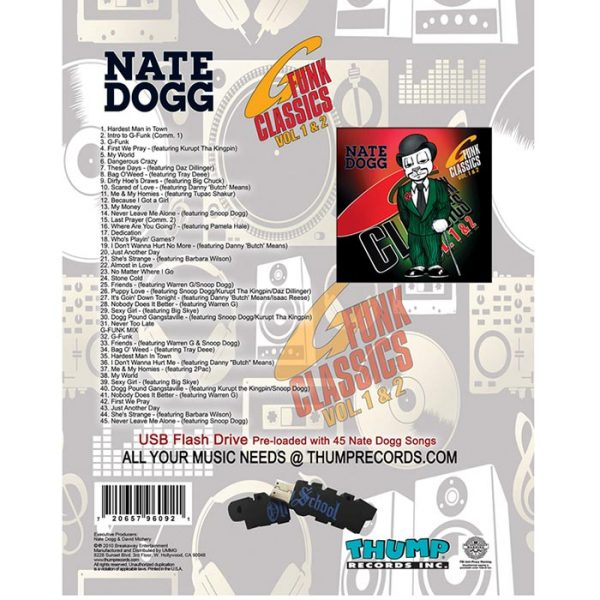 Thump Records Nate Dogg MP3 collection track listing.