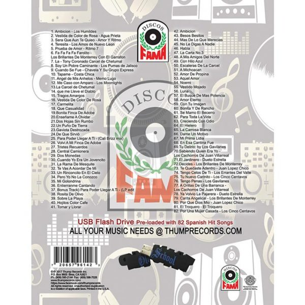Discos Fama MP3 collection track listing.