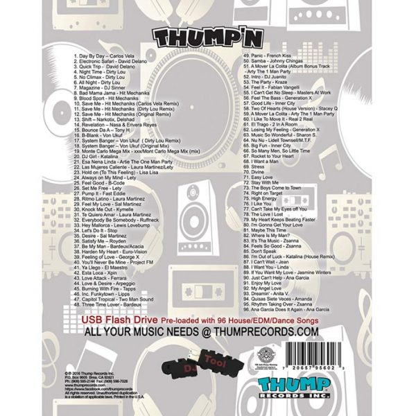Thump Records Dance Music MP3 collection song listing.