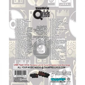Thump Records Freestyle QuickMixx MP3 collection song listing.