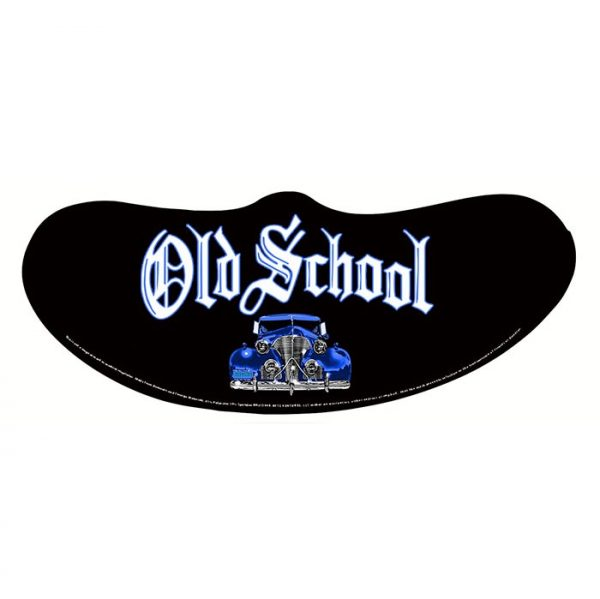 Old School Blue Car Mask