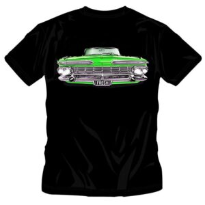 KIDS OLD SCHOOL GREEN CAR T-SHIRT