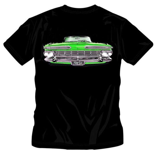 KIDS OLD SCHOOL GREEN CAR T-SHIRT