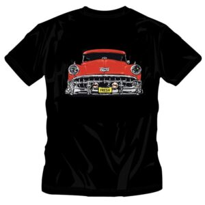 KIDS OLD SCHOOL RED CAR T-SHIRT