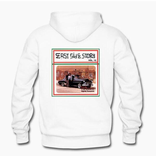East Side Story 12 Hoodie in White