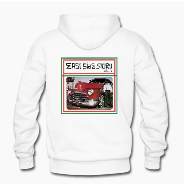 East Side Story 2 hoodie in White